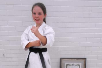 Black belt for Katie!