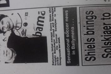 Man U. star Ole plays at Ballymena Showgrounds!