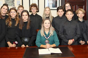Children from Gran Canaria welcomed to Ballymena
