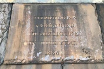 Slate records that Henry Kerr was here - way back in 1835!