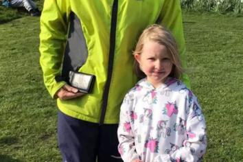 Niamh tackling Ballymena Park Run for charity