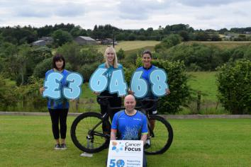 Superb sum raised for Cancer Focus by FROG