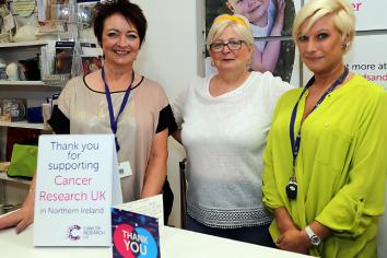 Local Cancer Research Shop highest performing in region
