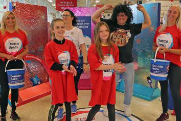 Tesco customers get into the groove for charity