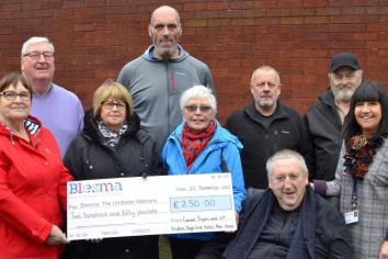 £250 for 'Blesma' charity