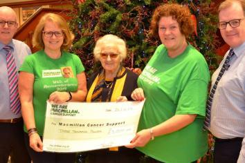 Kathy raises £3,000 in memory of dad Matthew McKillen