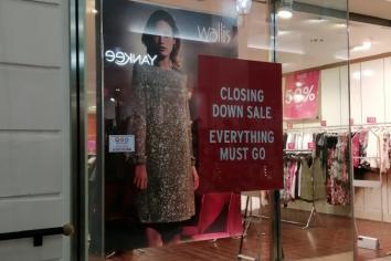 Wallis to close shop in Fairhill Centre