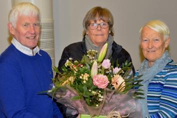 Floral presentation made to U3A's 200th Ballymena member