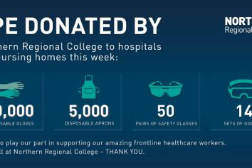 Northern Regional College makes local PPE donations