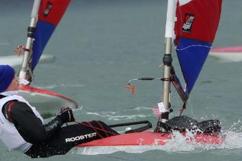 Teen Tom at Sailing School in Portugal