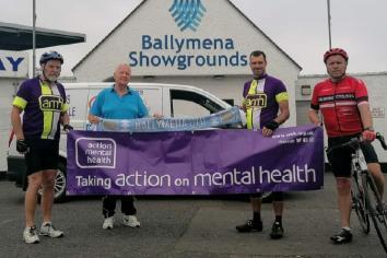 United support Mervyn's Action Mental Health bike-a-thon fund raiser