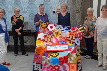 Project Hope put their sewing skills to good use