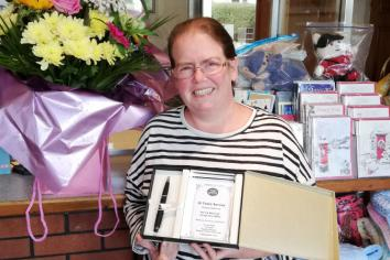 20 year long service award for Clough's 'outstanding' postmaster