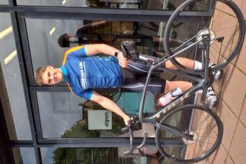 Austin's cycle raises £1,580 for Diabetes UK