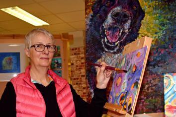 Turning to art for light relief