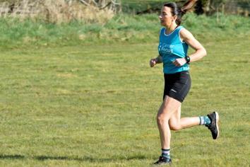 Judith running for Cancer Focus
