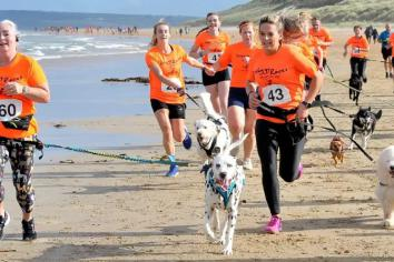 Kelly and 'Charlie' enjoy Waggy Races
