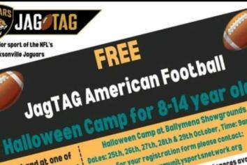 JagTAG American Football Halloween Camp at Ballymena Showgrounds