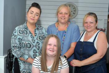 Ava sheds 16 inches of hair for Little Princess Trust